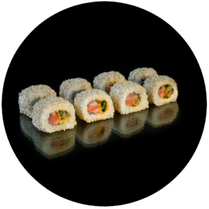 Roll California with salmon