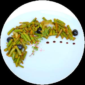 Стручкова квасоля з оливками