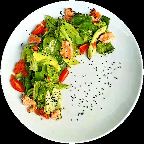 Салат з лососем