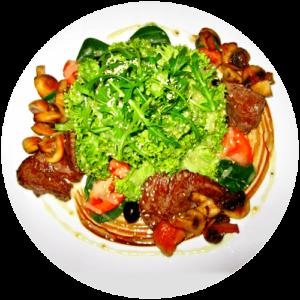 Теплий салат di Vitello