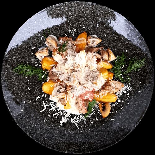 Картопля з м'ясом «piatta contadino»