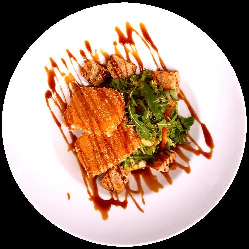 Салат з печених овочів і моцарелі