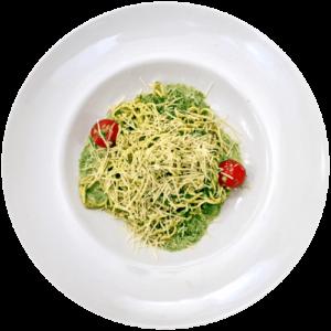 Спагетті зі шпинатом