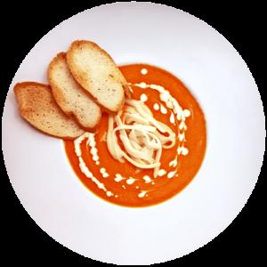 Томатний крем суп з моцарелою